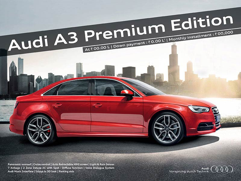 Audi A3 print ad - Collateral advertising agency