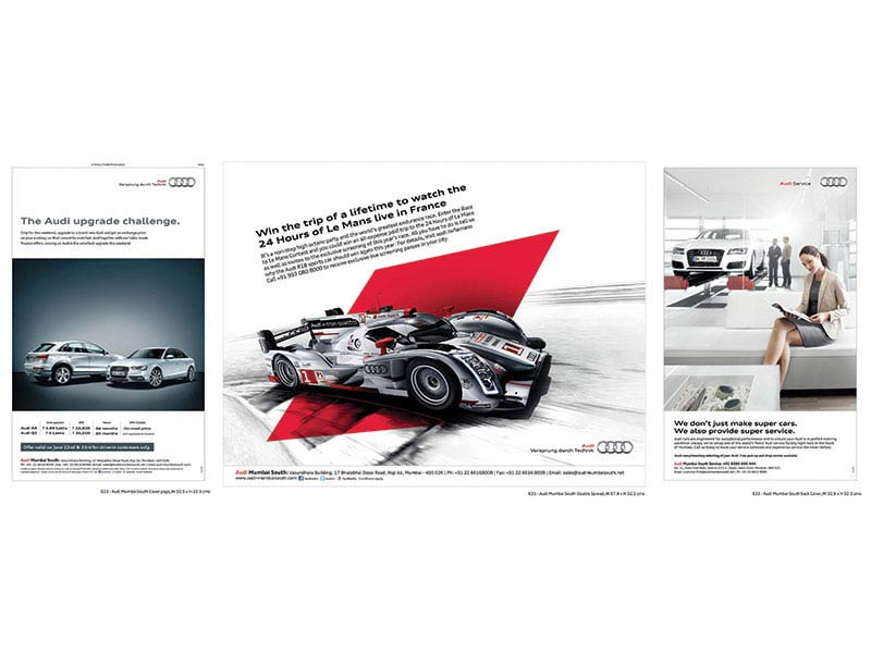 Audi service ad - Collateral creative advertising agency