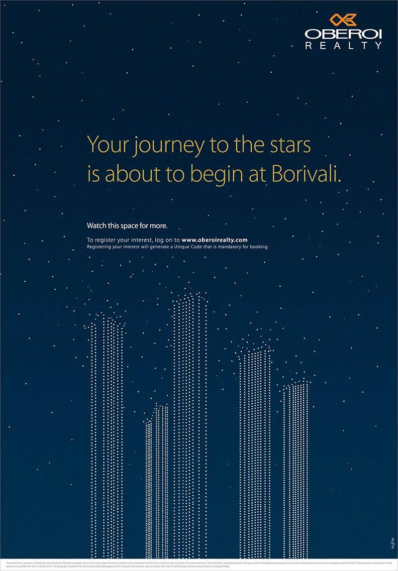Oberoi Realty print ad for Borivali